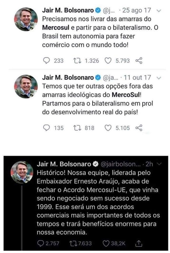 Print Twitter Bolsonaro Mercosul